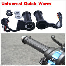 "New 7/8""22mm Motorcycle Electric Hand Heated Molded Grips ATV Warmers Handlebar"