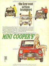 1969 AUSTRALIAN MINI COOPER 'S' A3 POSTER AD SALES BROCHURE ADVERTISEMENT ADVERT