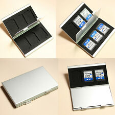 SD MMC Speicherkarten Etui Tasche Case Box Hülle Speicher für 6 Karten Alu Card