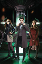 "Doctor Who | Fan Art | Matt Smith Clara Oswald Amy Pond | 12 x 8"" Digital Print"