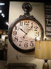 Large Oversized Pocket Watch-Style Vintage Industrial Wall Clock