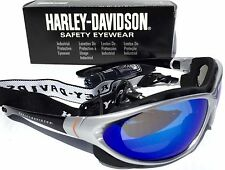 NEW* Harley Davidson Silver w Mirror Blue ICE Lens & Cycle Sunglass HD1302 $140