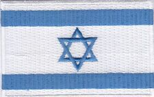 """10 Pcs Israel Flag Embroidered Patches 3.5""""x2.25"""""""