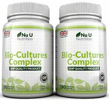 Nu U Probiotics 2 bottles 360 Caps 10 Billion Forming CFU's yeast infections