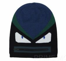 NEW FENDI MONSTER MOTIVE 100% WOOL FUNKY BEANIE STYLE HAT ONE SIZE UNISEX
