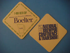 Older Beer Coaster ~ National BrewPub Conference & Trade Show ~ Boelter Supplies