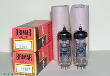 NOS NIB BRIMAR 12BH7 / CV5042 Black Plates Big Halo Getter Matched Pair Tubes