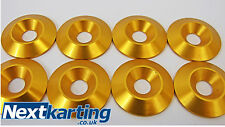 Kart Alloy CSK 30 x 5 x 8mm Seat Washers M8 Gold  x 8 - Tillett - NextKarting