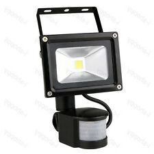 Outdoor 10W LED Flood Light Detector PIR Motion Sensor Lamp Auto ON/OFF Yard