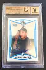 Giancarlo Mike Stanton BGS 9.5 GEM MINT 2008 Bowman Chrome Auto RC #BDPP115