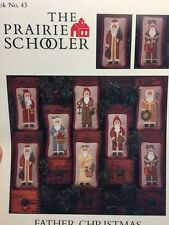 The Prairie Schooler FATHER CHRISTMAS sampler cross stitch pattern OOP