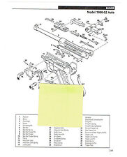 LUGER MODEL 1900-02 PISTOL, 1908 AUTO PISTOL EXPLODED VIEW/PARTS LIST 2011 AD