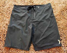 Hurley Phantom Gray Stretch Performance Board shorts  36 Swim Trunks Beach Surf