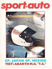 SPORT AUTO SPORTAUTO Magazin 1969 Abarth Scorpione Rallye Korsika ++++++++++++++