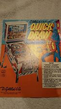 GOTTLIEB QUICK DRAW. PINBALL MACHINE SALES FLYER BROCHURE. BALLY. WILLIAMS