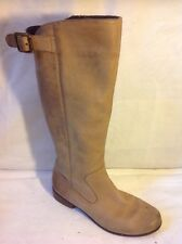 Clarks Brown Knee High Leather Boots Size 5.5D