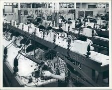 Sylvania Technicians Assemble Transistors Woburn MA Press Photo
