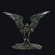 Nemesis Now Angel of Death Dark Angel Ornament. Large Winged Gothic Figure.