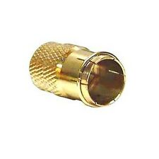 Eagle Twist-On F Type Quick Connector RG59 RG6 Gold Push-On F Coax Plug 1 piece