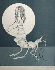 Félix Labisse (1905-1982) lithographie originale sur japon Le parsifal