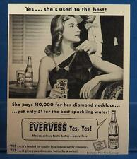 Vintage Magazine Ad Print Design Advertising Evervess Sparkling Water