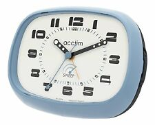 ACCTIM CITY SWEEP ANALOGUE BEDSIDE BLUE  ALARM CLOCK 14879