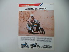 advertising Pubblicità 1987 MOTO HONDA XL 600 LM PARIS DAKAR e EDI ORIOLI
