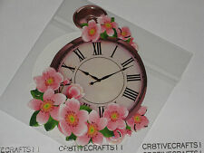 "HEARTY CRAFTS - EASY 3D DESIGNS - ""CLOCKS"" HC7762 CARDS PROJECTS"