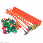 100 Pcs Plastic Balloon Holder Sticks Multicolor Cup Wedding Party Decoration