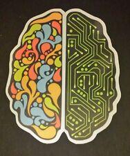 Laptop Tablet cerebro coloridas ilustraciones Pegatina Guitarra maleta 679