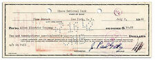 Billionaire Oil Magnate J. Paul Getty Signed Check