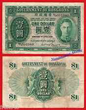 HONG KONG  1 Dollar Dolar 1949   Pick 324 a  BC /   F