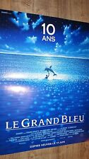 luc besson LE GRAND BLEU 10 ans !   affiche cinema