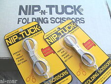 FOLDING SCISSORS JAPAN 2 PAIR, 10 BUCKS, DELIVERED! NIP-n-TUCK LIFETIME WARRANTY