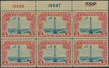 "#C11 RARE ""DOUBLE TOP"" PB # 19625/19597 1927 5c BEACON ISSUE MINT-OG/NH--VF/XF"