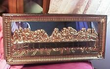 vintage 1983 home Interior Homco Last supper gold tone mirror frame 22x10