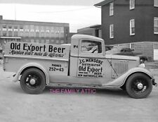 OLD EXPORT BEER PICKUP TRUCK PHOTO JC MENSORE DISTRIBUTOR NEW MARTINSVILLE WV