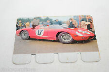 COOP PLAQUETTE METAL CARD 68 FERRARI PROTOTYPE RACING CAR...