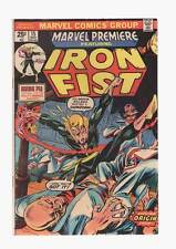 Marvel Premiere # 15  First Appearance/Origin Iron Fist grade 5.5  scarce book !
