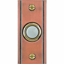 Lighted Doorbell Button Solid Brass Antique Copper door bell Groove design