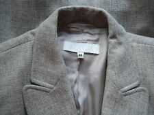 ESCADA CASHMERE & WOOL SKIRT SUIT IN GRAY LONG BLAZER SLIM SKIRT 42 10 GORGEOUS