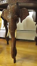 Anglo Indian Hand Carved Rosewood table with elephant head trunk legs