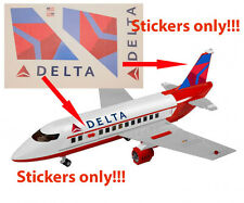 Lego City Custom Delta Airlines Stickers for 3182 Passenger Plane Airport 7893