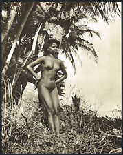 1950's Vintage Outdoor Nude Asian Indian Tamil Girl Jackson Photo Gravure Print