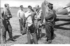 German Luftwaffe Pilots Russia 1944 World War 2 Reprint Photo 6x4 Inch