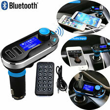 WIRELESS Bluetooth Trasmettitore FM Lettore MP3 AUTO KIT Caricatore per iPhone & Samsung