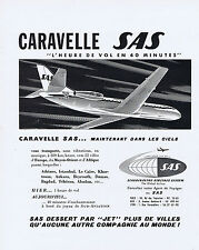 PUBLICITE ADVERTISING 064 1959 SAS Caravelle l'heure de vol en 40 minutes