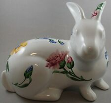Tiffany & Co Large Ceramic Rabbit with Flowers / Floral Decoration