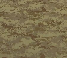 "DIGITAL CAMOUFLAGE CAMO TAN BROWN POLYESTER WOVEN RIPSTOP FABRIC BY YARD 60""W"