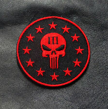 THREE 3%  PERCENTER PUNISHER SKULL 2.5 INCH TACTICAL MORALE HOOK PATCH